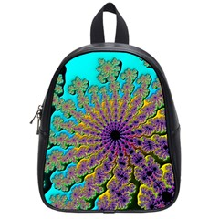 Beautiful Mandala Created With Fractal Forge School Bags (small)  by Nexatart