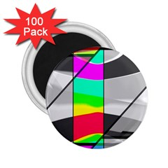 Colors Fadeout Paintwork Abstract 2 25  Magnets (100 Pack)  by Nexatart