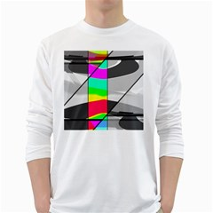 Colors Fadeout Paintwork Abstract White Long Sleeve T-Shirts by Nexatart