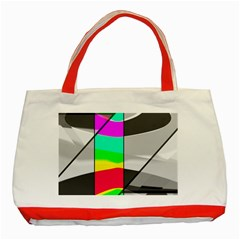 Colors Fadeout Paintwork Abstract Classic Tote Bag (red)
