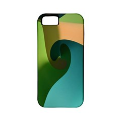 Ribbons Of Blue Aqua Green And Orange Woven Into A Curved Shape Form This Background Apple iPhone 5 Classic Hardshell Case (PC+Silicone)