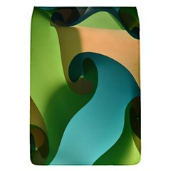 Ribbons Of Blue Aqua Green And Orange Woven Into A Curved Shape Form This Background Flap Covers (s)  by Nexatart