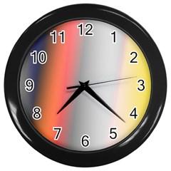 Digitally Created Abstract Colour Blur Background Wall Clocks (black) by Nexatart