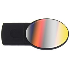 Digitally Created Abstract Colour Blur Background Usb Flash Drive Oval (2 Gb) by Nexatart