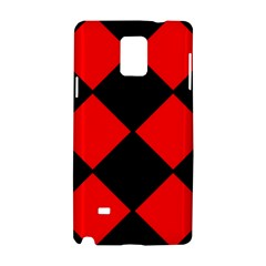 Red Black Square Pattern Samsung Galaxy Note 4 Hardshell Case by Nexatart