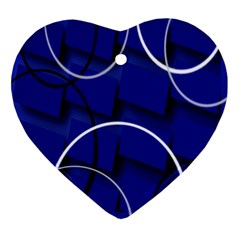 Blue Abstract Pattern Rings Abstract Ornament (heart) by Nexatart