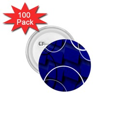 Blue Abstract Pattern Rings Abstract 1 75  Buttons (100 Pack)  by Nexatart