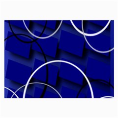 Blue Abstract Pattern Rings Abstract Large Glasses Cloth by Nexatart