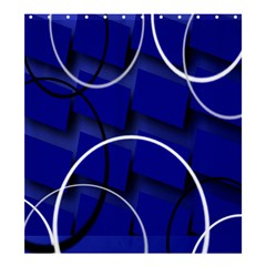 Blue Abstract Pattern Rings Abstract Shower Curtain 66  X 72  (large)  by Nexatart