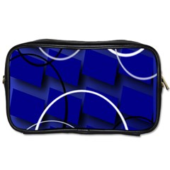 Blue Abstract Pattern Rings Abstract Toiletries Bags 2-Side by Nexatart