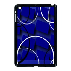 Blue Abstract Pattern Rings Abstract Apple Ipad Mini Case (black) by Nexatart