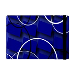 Blue Abstract Pattern Rings Abstract Ipad Mini 2 Flip Cases by Nexatart