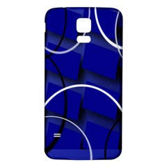 Blue Abstract Pattern Rings Abstract Samsung Galaxy S5 Back Case (white) by Nexatart