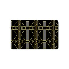 Simple Art Deco Style Art Pattern Magnet (name Card) by Nexatart