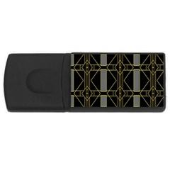 Simple Art Deco Style Art Pattern Usb Flash Drive Rectangular (4 Gb) by Nexatart