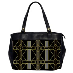Simple Art Deco Style Art Pattern Office Handbags (2 Sides)  by Nexatart