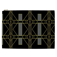 Simple Art Deco Style Art Pattern Cosmetic Bag (xxl)  by Nexatart