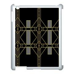 Simple Art Deco Style Art Pattern Apple Ipad 3/4 Case (white) by Nexatart