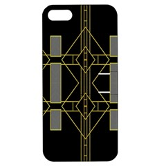 Simple Art Deco Style Art Pattern Apple Iphone 5 Hardshell Case With Stand by Nexatart