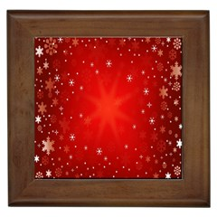 Red Holiday Background Red Abstract With Star Framed Tiles by Nexatart