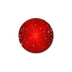 Red Holiday Background Red Abstract With Star Golf Ball Marker (4 pack)