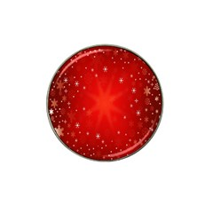 Red Holiday Background Red Abstract With Star Hat Clip Ball Marker (4 Pack) by Nexatart