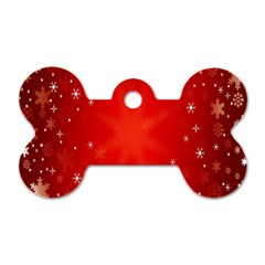 Red Holiday Background Red Abstract With Star Dog Tag Bone (two Sides) by Nexatart