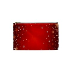 Red Holiday Background Red Abstract With Star Cosmetic Bag (small)  by Nexatart