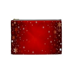 Red Holiday Background Red Abstract With Star Cosmetic Bag (medium)  by Nexatart