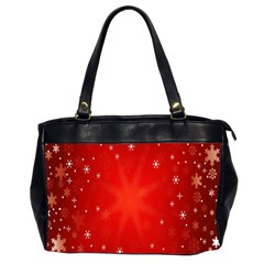 Red Holiday Background Red Abstract With Star Office Handbags (2 Sides)  by Nexatart