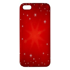Red Holiday Background Red Abstract With Star Apple Iphone 5 Premium Hardshell Case by Nexatart