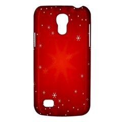 Red Holiday Background Red Abstract With Star Galaxy S4 Mini by Nexatart