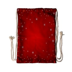 Red Holiday Background Red Abstract With Star Drawstring Bag (small) by Nexatart
