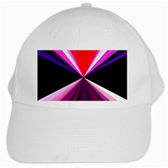 Red And Purple Triangles Abstract Pattern Background White Cap by Nexatart