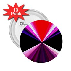 Red And Purple Triangles Abstract Pattern Background 2 25  Buttons (10 Pack)  by Nexatart
