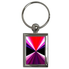 Red And Purple Triangles Abstract Pattern Background Key Chains (rectangle)  by Nexatart