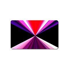 Red And Purple Triangles Abstract Pattern Background Magnet (name Card) by Nexatart
