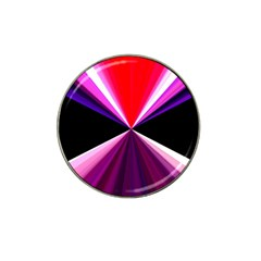 Red And Purple Triangles Abstract Pattern Background Hat Clip Ball Marker (10 Pack) by Nexatart