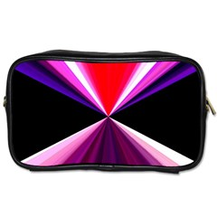 Red And Purple Triangles Abstract Pattern Background Toiletries Bags by Nexatart