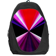 Red And Purple Triangles Abstract Pattern Background Backpack Bag by Nexatart