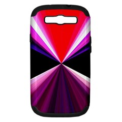Red And Purple Triangles Abstract Pattern Background Samsung Galaxy S Iii Hardshell Case (pc+silicone) by Nexatart