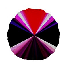 Red And Purple Triangles Abstract Pattern Background Standard 15  Premium Round Cushions by Nexatart