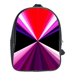 Red And Purple Triangles Abstract Pattern Background School Bags (xl)  by Nexatart
