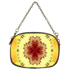 Yellow Digital Kaleidoskope Computer Graphic Chain Purses (one Side)  by Nexatart