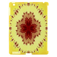 Yellow Digital Kaleidoskope Computer Graphic Apple Ipad 3/4 Hardshell Case (compatible With Smart Cover) by Nexatart