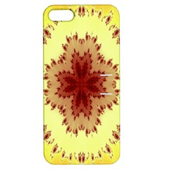 Yellow Digital Kaleidoskope Computer Graphic Apple Iphone 5 Hardshell Case With Stand by Nexatart