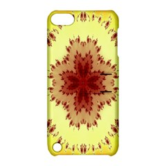 Yellow Digital Kaleidoskope Computer Graphic Apple Ipod Touch 5 Hardshell Case With Stand by Nexatart