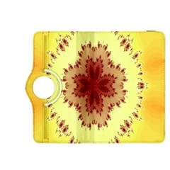 Yellow Digital Kaleidoskope Computer Graphic Kindle Fire Hdx 8 9  Flip 360 Case by Nexatart