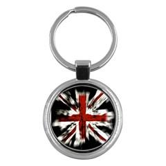 British Flag Key Chains (round)  by Nexatart