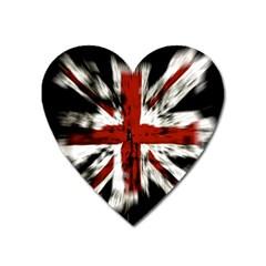 British Flag Heart Magnet by Nexatart